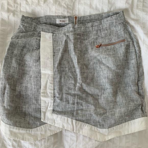 Adorable mini linen skirt Australian designer